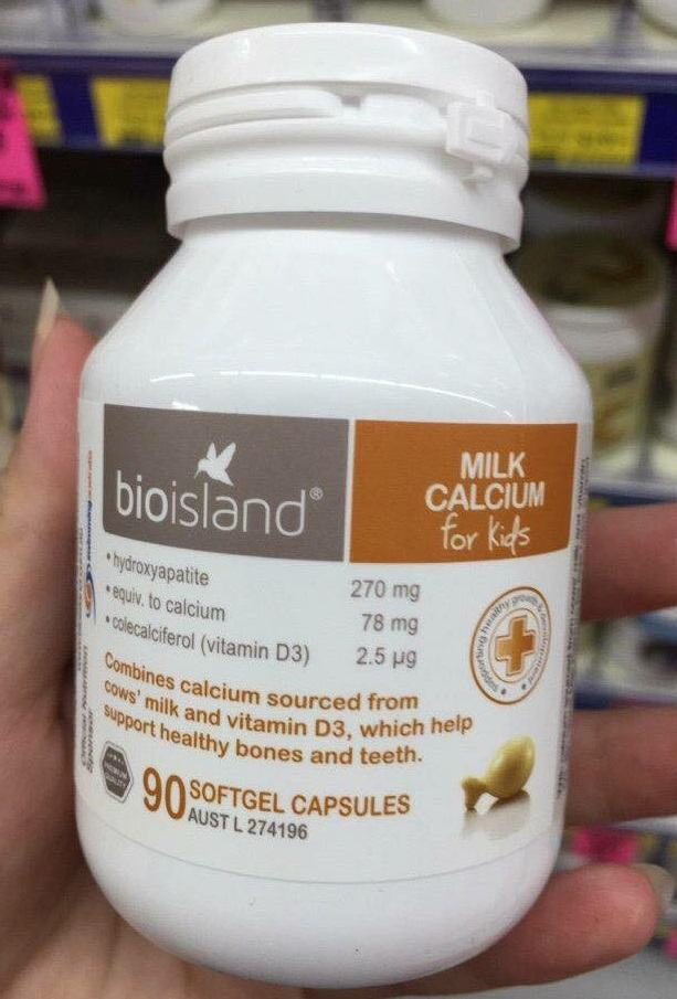 Viên uống Milk Calcium BioIsland For Kid