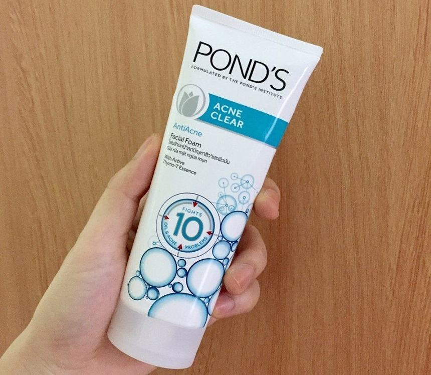 sữa rửa mặt Pond's Acne Clear Anti-Acne Facial Foam